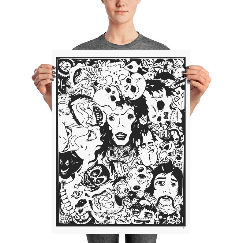 Matte Poster Print by Josh Collazo Faces