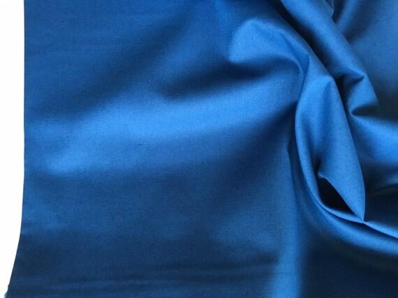Dark Blue Ocean Blue Cotton Solid Fabric by Makower - Spektrum Solids