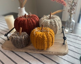 Farmhouse Crochet Pumpkins