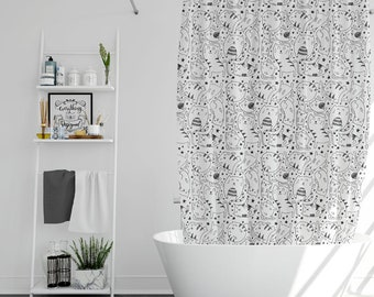 Funny Cats Shower Curtain Curtains