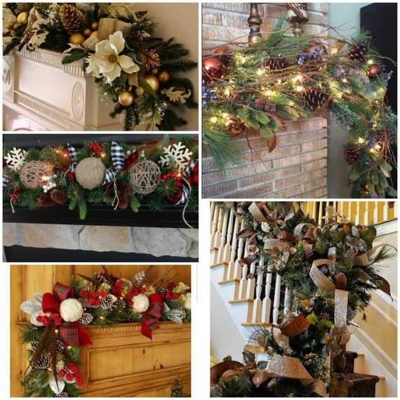 image 0 - Banister Christmas Garland Decor