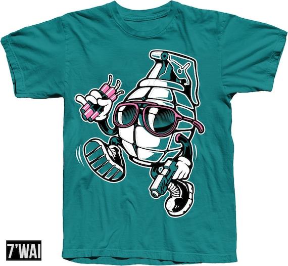 Biker Harley Chopper Motif Motorcycle Biker Skull T-Shirt 4107 Bl