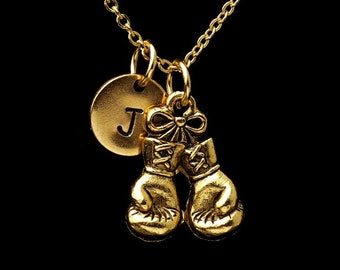 Boxing Glove Necklace Boxing Glove Necklace Personalized Boxing Glove Necklace Necklace for Boxers Custom Boxing Necklace