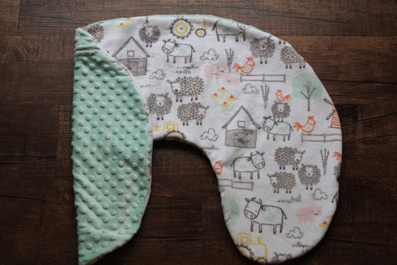 Minky Farm Animal Boppy Pillow Cover