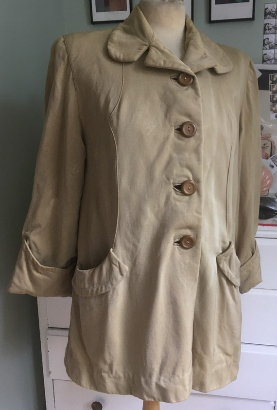 1940s beige swing jacket