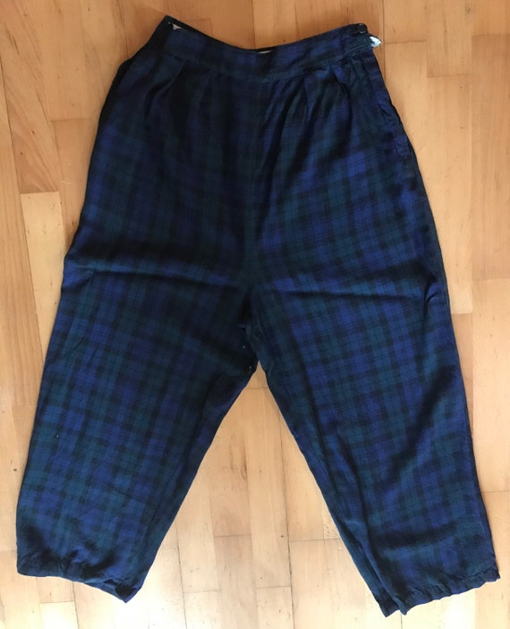 1940s Lightweight Wool Blackwatch Check Womens Sla