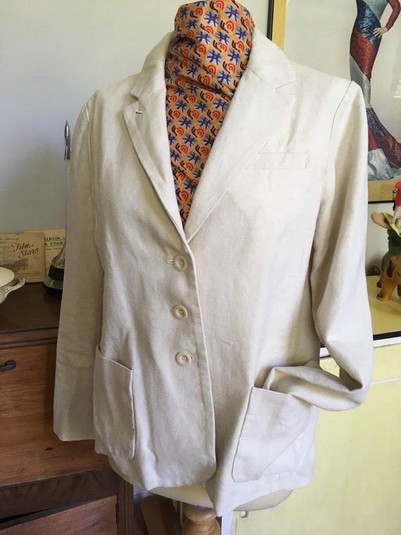 1930s style TOAST beige linen jacket