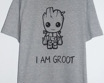 4ebefbe0 Valentines day gift for him, Guardians of the Galaxy tshirt, groot shirt,  baby groot t shirt, i am groot t shirt, marvel t shirt, gifts