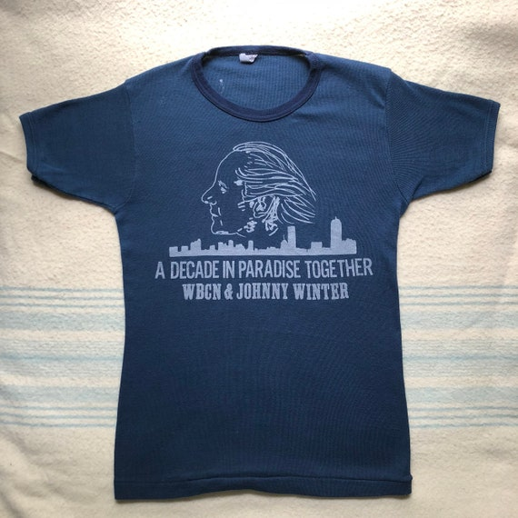 Johnny Winter Tshirt 1970's mint condition