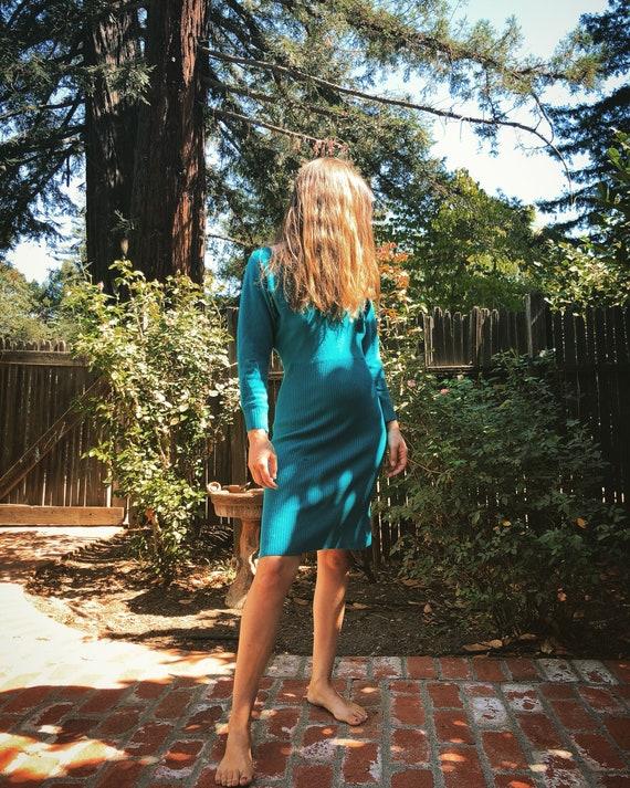 Cashmere Betsey Johnson turquoise dress