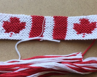 4acd96e94b3b Canadian Flag Friendship Bracelet