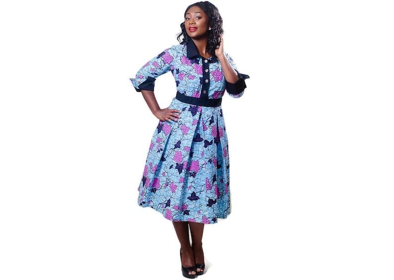59b663a30f5 African print shirtdress floral shirt dress african shirt