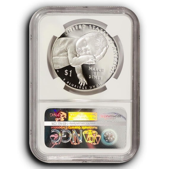 2015-W March of Dimes NGC PF69 First Day Of Issue Proof Silver Dollar Coin