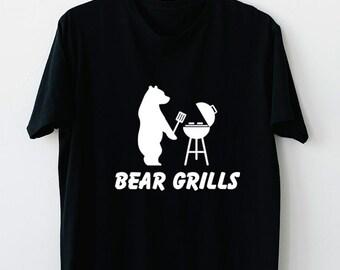BEAR GRILLS funny present NEW xmas birthday gift ideas boys girls top T SHIRT