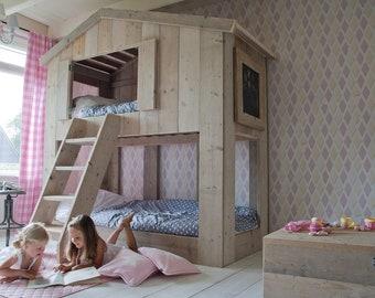 Kinder Etagenbett Haus : Ausgezeichnet kinder doppelstockbett hochbett etagenbett
