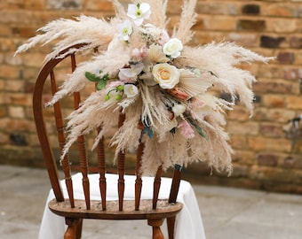 Wedding Decoration/Wedding Archway Flower/Wedding Corner Swag/Bridal Shower Decor/Pampas Grass Arrangement/Floral Arrangement