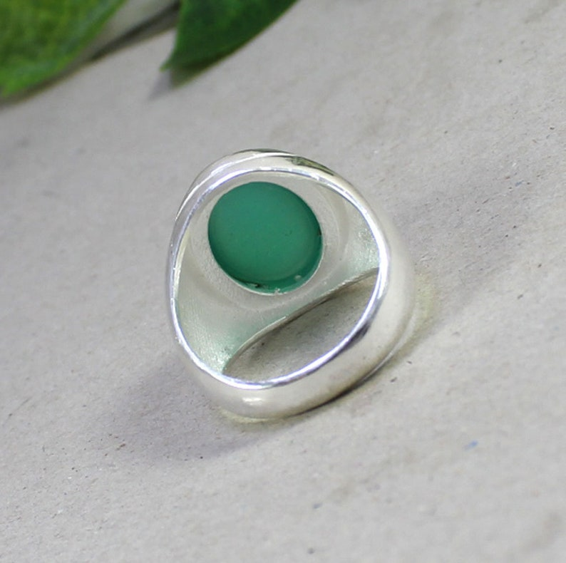 Green Onyx Gemstone Ring Handmade Ring Mens Ring Jewelry Handmade Ring Birthstone Ring Unisex Ring Wedding Gift Ring Dailywear Ring for Him