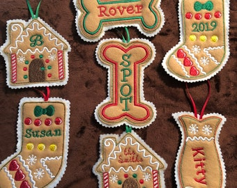 GINGERBREAD COOKIES Christmas Ornament COOKIES BAKER ORNAMENT Free Shipping NEW