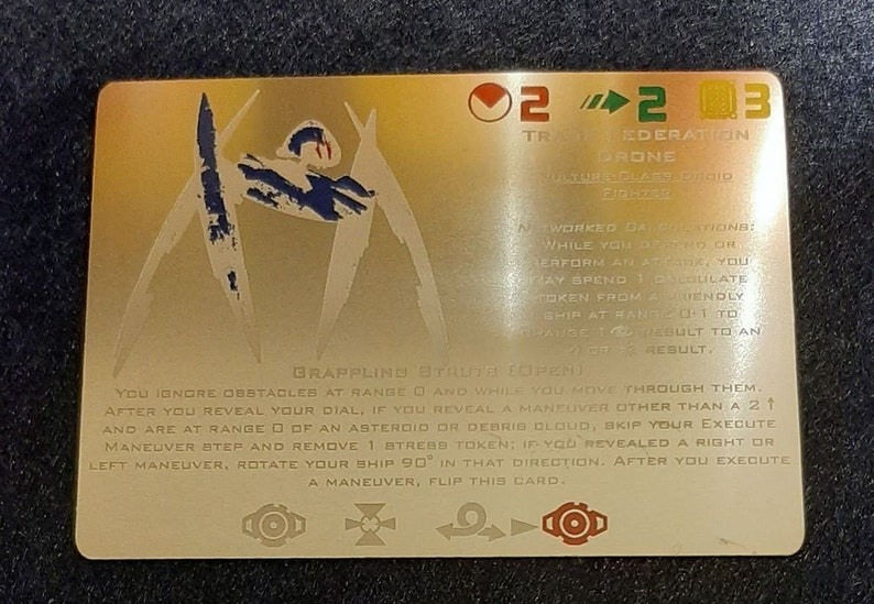 Metal Alt-Art Card for X-Wing miniatures Wave 2.5