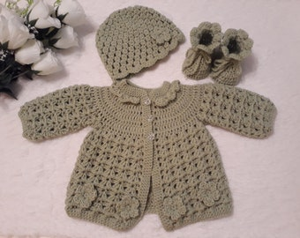 5417fcaf2a28 Colourful Baby sweater set crochet Baby cardigan Baby