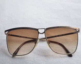 10fb2c80fc0a 1980s GUCCI antique brown frame