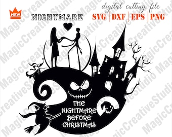 3395dcc5412 Nightmare before Christmas SVG