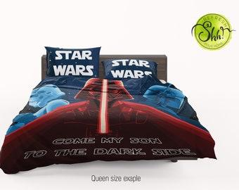 6c1f506876 Star Wars Bedroom, Darth Vader Duvet Cover, Geek Gift, Fett Light Switch Bed  Set, Dark Sword Gift, King Queen Beddings, Star Wars Home Decor