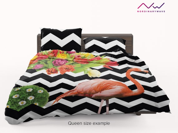 Jungle Boho Flamingo Pink Grey by nouveau/_bohemian Flamingo Sheets Bohemian Bird Rose Cotton Sateen Sheet Set Bedding by Spoonflower