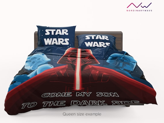 Star Wars Minis Single Duvet Cover and Pillowcase Set 2 Designs In 1 Darth Vader