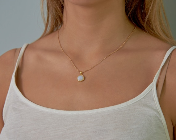 Rainbow moonstone necklace June birthstone necklace, Layered necklace Moonstone jewelry, Dainty gemstone necklaces Birthstone gifts for her