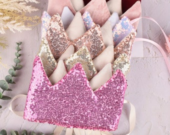 Crushed velvet crown and wand set in silver