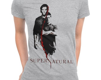 1c487c2e Supernatural Art T-Shirt, Sam and Dean Winchester Graphic Tee, Men's Women's  All Sizes