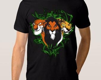 b3aeedba2 Lion King Scar T-Shirt, Disney Old School Tee, Men's Women's Kids All Sizes