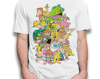 0ce1bacda Nickelodeon Cartoons Combo T-Shirt, Old School 90's Tee, Men's Women's Kids  All Sizes