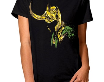 0f2aacf4b Loki Art T-Shirt, Marvel Comics Tee, Men's Women's All Sizes