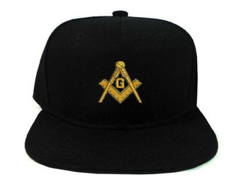 e0f587f4 Freemason Masonic Mason Black Snap Back Snapback Baseball cap hat