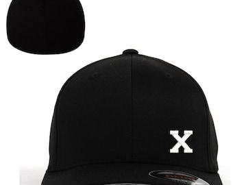 927be100fd92d Malcolm X logo Embroidered Flexfit Baseball Cap Hat Black Flex Fit S M    L XL Unique Design