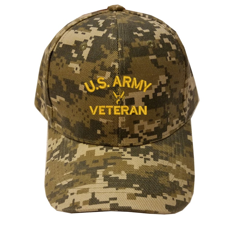 Coast guard veteran Air force veteran Navy veteran Embroidered Digital camouflage baseball cap -Army veteran Firefighter