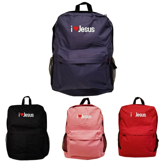 RED Backpack Bag with I LOVE JESUS EMBROIDERED