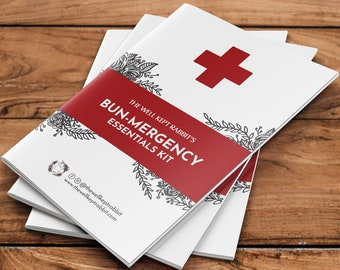 BUN-MERGENCY KIT | for Bunny Rabbits, Guinea Pigs, Chinchillas, Small Pets | Emergency Kit for Pets | First Aid Kit