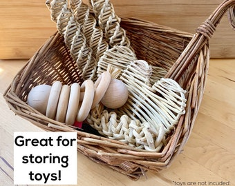 Baskets: Variety of Sizes! Edible Willow   Chewing, Storing Hay, Food, Toys   Bunny Rabbit, Guinea Pigs, Chinchilla Chew Toy   Handmade