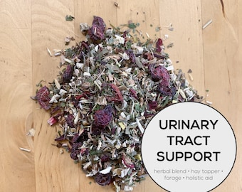 Urinary Tract Support Herbal Blend | Organic Hay Topper, Forage | Bunny Rabbit, Guinea Pig, Chinchilla, Gerbil, Hamster, Chicken