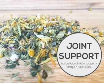 Joint Support Herbal Blend | Organic Hay Topper, Forage, Nesting Herbs | Bunny Rabbit, Guinea Pig, Chinchilla, Gerbil, Hamster, Chicken