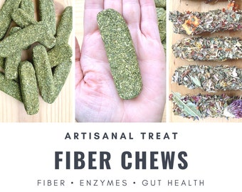 Fiber Chews | Oat-Free! | Organic Healthy Treat | Bunny Rabbit, Guinea Pig, Chinchilla, Gerbil, Hamster, Rat, Mouse, Chicken