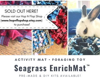 Seagrass EnrichMat™ | Snuffle Mat | Foraging & Enrichment Mat | Pre-Made or DIY Kits Available | Bunny Rabbits, Guinea Pigs | Activity Mat