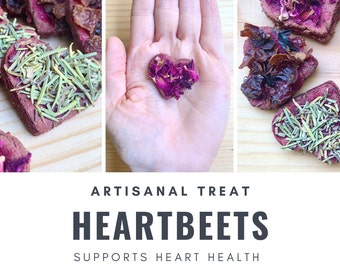 HeartBeets | Heart Support | Senior Support | Bunny Rabbit, Guinea Pig, Chinchilla, Gerbil, Hamster, Rat, Mouse, Chicken