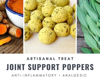 Joint Support Poppers | Arthritis, Aches, Pain | Organic Healthy Treat | Bunny Rabbit, Guinea Pig, Chinchilla, Gerbil, Hamster, Rat, Mouse
