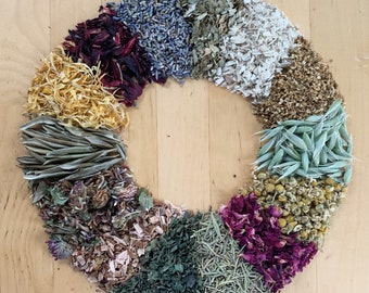 Build-Your-Own- Herbal Blend | Organic Hay Topper, Forage, Nesting Herbs | Bunny Rabbit, Guinea Pig, Chinchilla, Gerbil, Hamster, Chicken