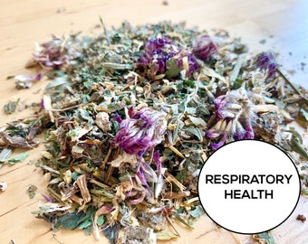 Respiratory Health Herbal Blend | Organic Hay Topper, Forage, Nesting Herbs | Bunny Rabbit, Guinea Pig, Chinchilla, Gerbil, Hamster, Chicken