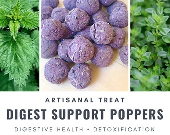 Digest Support Poppers | Gut Health | Organic Healthy Treat | Bunny Rabbit, Guinea Pig, Chinchilla, Gerbil, Hamster, Rat, Mouse